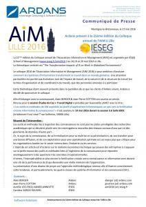 Colloque annuel AIM Lille 2016