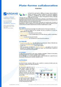 Projet Knowledge Management pour 3C-R CLUB