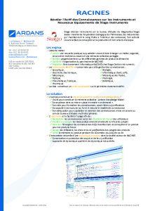 Projet RACINES - Stago Instruments
