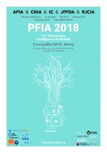 PFIA 2018 Plate-forme Intelligence Artificielle