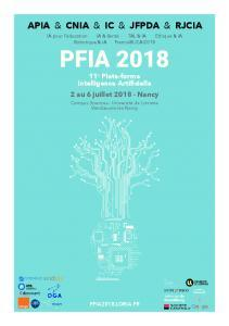PFIA 2018 Plate-forme Intelligence Artificielle