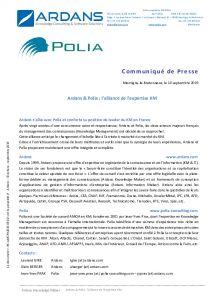 Ardans et Polia - L´alliance de l´expertise KM