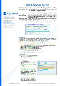 Projet connaissances GRANIOU WEB