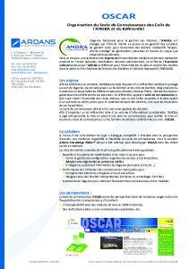 Projet OSCAR pour ANDRA